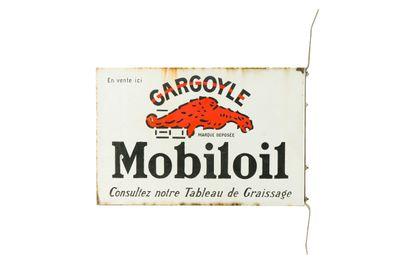 MOBILOIL GARGOYLE.  Sans mention d'émaillerie,...