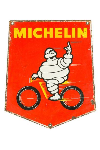 MICHELIN (Pneu vélo).  Sans mention d'émaillerie,...