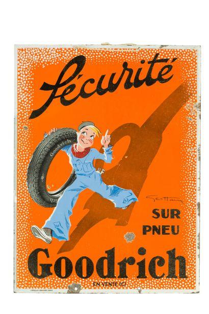 GOODRICH, Sécurité sur pneu.  Signée Géo...
