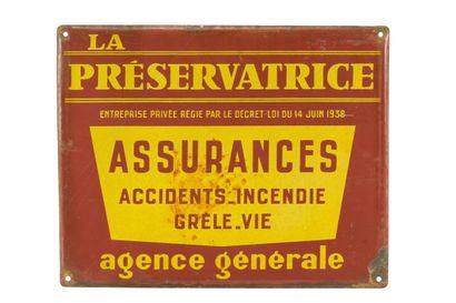 LA PRÉSERVATRICE Assurances.  Sans mention...