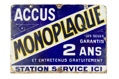 MONOPLAQUE Accus, Station-Service.  Sans...