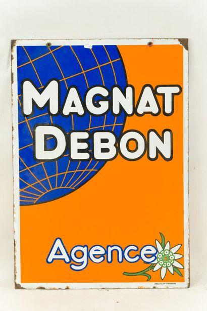 MAGNAT DEBON Agence (Motos).  Émaillerie Alsacienne Strasbourg, vers 1935.  Plaque...