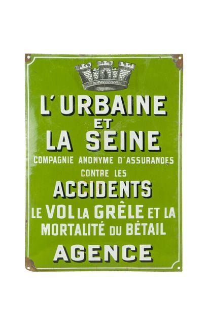 L'URBAINE ET LA SEINE Cie anonyme d'assurance...