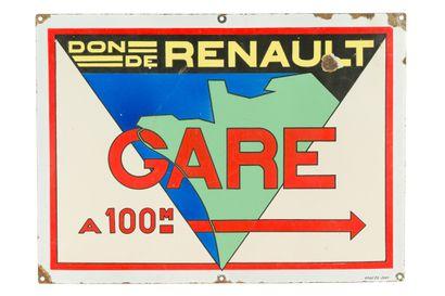 Don de RENAULT, GARE à 100 m.  Émaillerie...