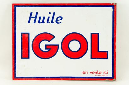 IGOL Huile (Automobile).  Émail Art France,...