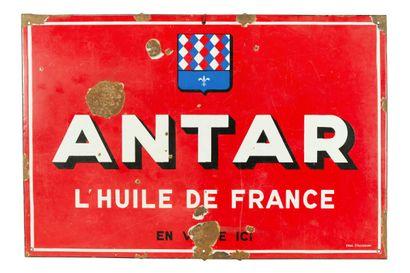 ANTAR L'huile de France.  Émaillerie Alsacienne...