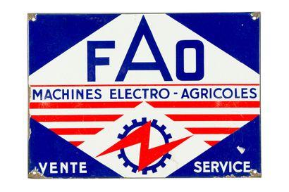 FAO Machines électro-agricoles.  Sans mention...