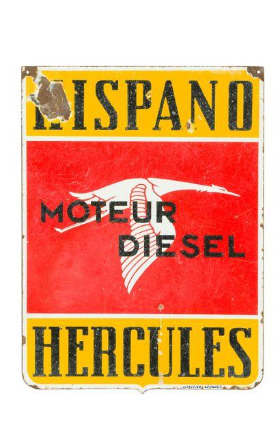 HISPANO - HERCULES, Moteur Diesel.  Émaillerie...