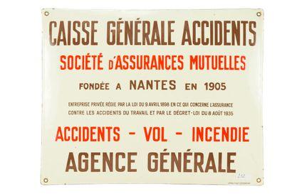 CAISSE GÉNÉRALE ACCIDENTS Société d'assurances...