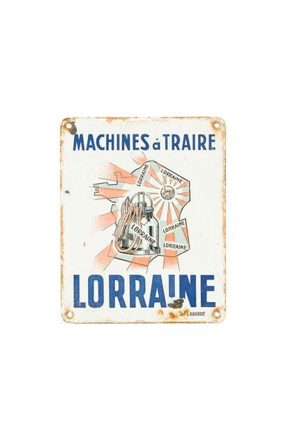 LORRAINE Machines agricoles.  Émaillerie...