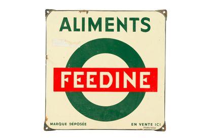 FEEDINE ALIMENTS (Pour le bétail).  Émaillerie...