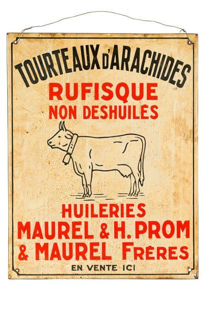 TOURTEAUX D'ARACHIDES, huileries Maurel....