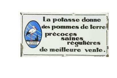 POTASSE D'ALSACE, La potasse donne des pommes...