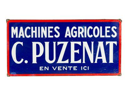 C. PUZENAT Machines Agricoles.  Émaillerie...