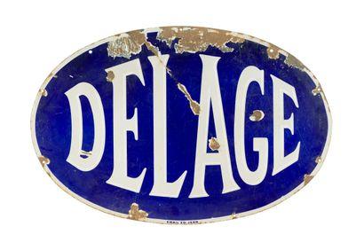 DELAGE Automobiles, Concessionnaire.  Émaillerie...