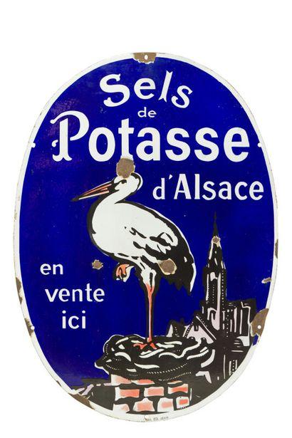 SELS de POTASSE D'ALSACE, (Engrais).  Émaillerie...