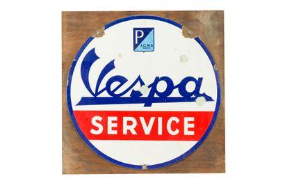 VESPA Service (Scooter).  Émaillerie Alsacienne...