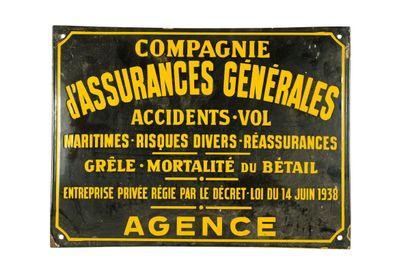 COMPAGNIE D'ASSURANCES GÉNÉRALES.  Sans mention...