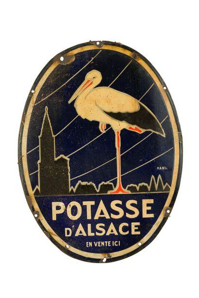 POTASSE D'ALSACE, (Engrais).  Signée Hansi,...