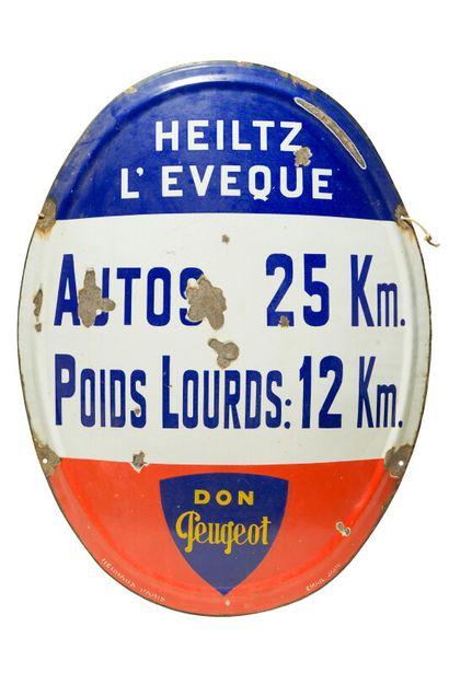 HEILTZ L'ÉVEQUE, Don Peugeot.  Émaillerie...