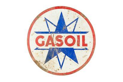 GASOIL.  Sans mention d'émaillerie, vers...