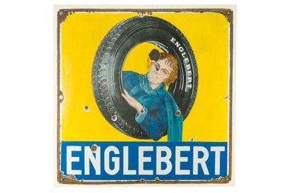 ENGLEBERT (Pneu).  Émaillerie Alsacienne...