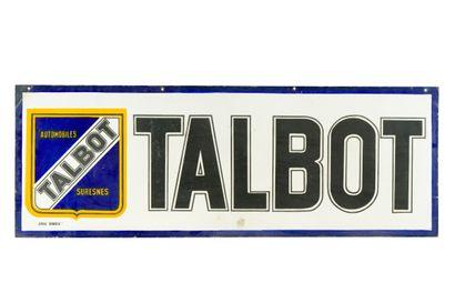 TALBOT, Automobiles, Suresnes.  Émail Dunois, vers 1940.  Grand bandeau émaillé...