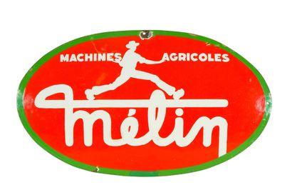 MÉLIN Machines agricoles.  Sans mention d'émaillerie,...