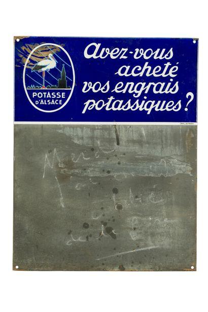 POTASSE D'ALSACE.  D'après HANSI, 1940.  Émail...