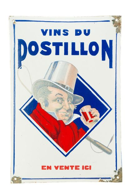 POSTILLON Vins du.  Émaillerie Alsacienne...