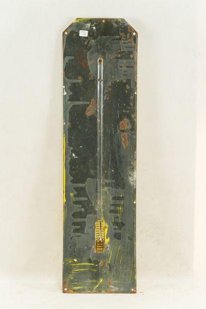 AUVERGNE Gentiane naturelle.  Sans mention d'émaillerie, vers 1935.  Thermomètre...
