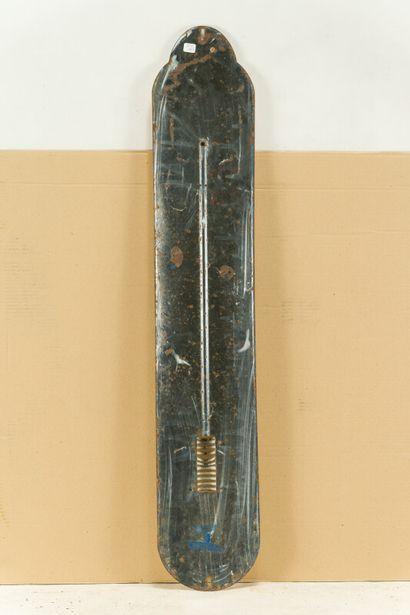 COQ HARDI Bière du.  Émaillerie Alsacienne Strasbourg, vers 1925.  Thermomètre émaillé...