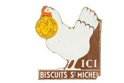 St. MICHEL BISCUITS.  Émaillerie Alsacienne...
