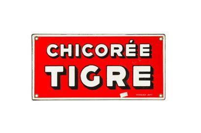 TIGRE Chicorée.  Émail Vitracier Japy, Paris,...