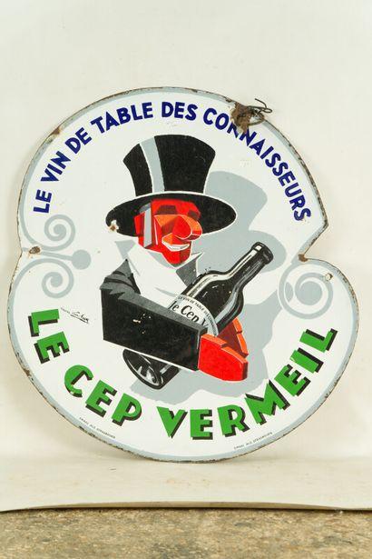 LE CEP VERMEIL Le vin de table des connaisseurs.  Signée d'après Georges FAVRE,...