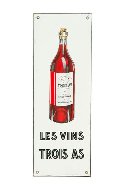 TROIS AS LES VINS.  Émaillerie Alsacienne...
