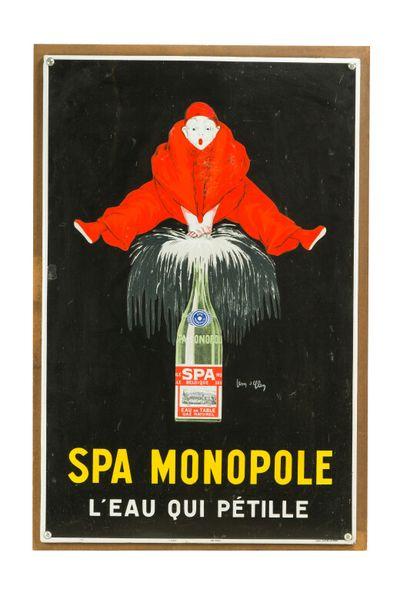 SPA MONOPOLE, L'eau qui pétille.  Signée...