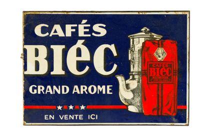 BIEC CAFÉS Grand arome.  Sans mention d'émaillerie,...