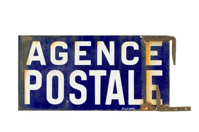 AGENCE POSTALE.  Émaillerie Japy, vers 1930....