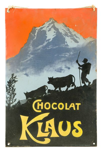 KLAUS CHOCOLAT.  D'après Carl MOOS, 1905....
