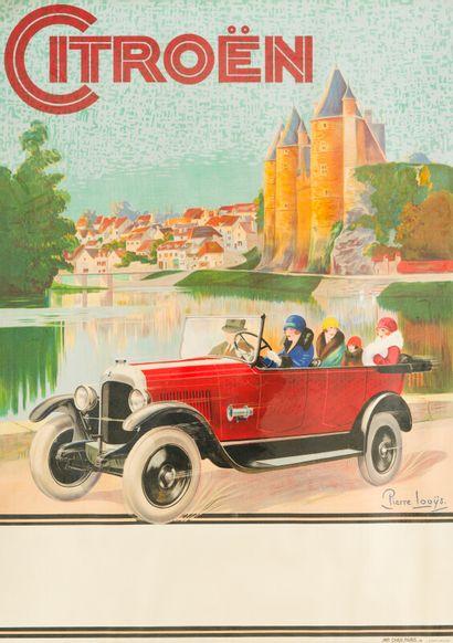 CITROËN  Signée Pierre LOUYS, 1925.  Mention...