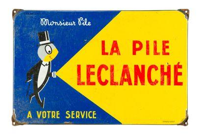 LECLANCHÉ LA PILE, Monsieur Pile.  Émaillerie...