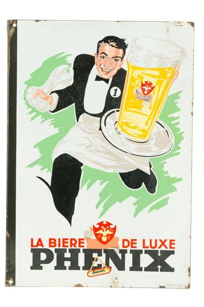 PHENIX La bière de luxe.  Émaillerie Alsacienne...