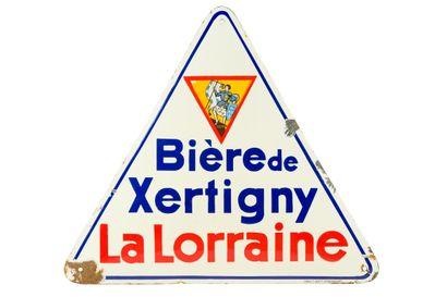 LA LORRAINE Bière de Xertigny.  Émaillerie...