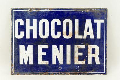 MENIER CHOCOLAT.  Sans mention d'émaillerie,...