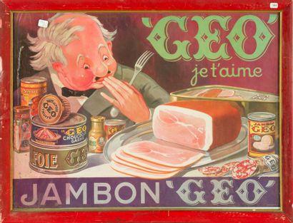 JAMBON GEO, Je t'aime.  Anonyme vers 1920....