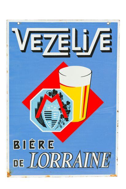 VEZELISE Bière de Lorraine.  Émaillerie Alsacienne...