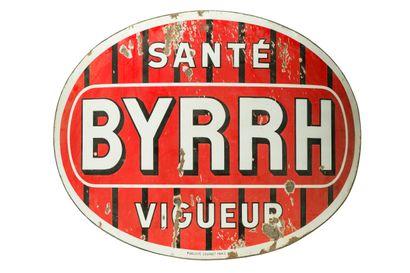 """BYRRH Santé, vigueur (Apéritif).  Mention """" Publicité Courbet, Paris), vers 1935...."""