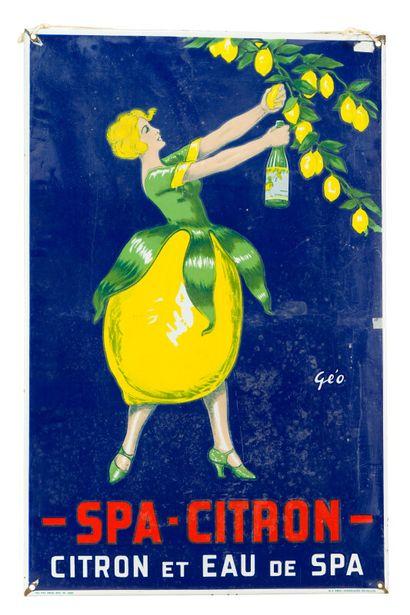 SPA CITRON, Citron et eau de Spa.  Signée...