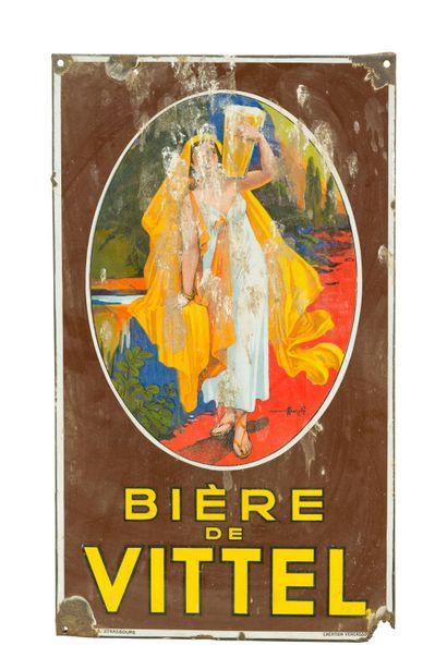 VITTEL BIÈRE de  Signé d'après AUZOLLE, 1925....